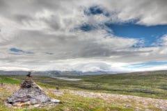 Σωρός των βράχων και του νορβηγικού τοπίου Στοκ Φωτογραφίες