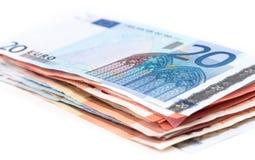 Σωρός των ΕΥΡΟ- τραπεζογραμματίων Στοκ Φωτογραφίες