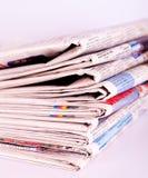 Σωρός των εφημερίδων Στοκ Εικόνα