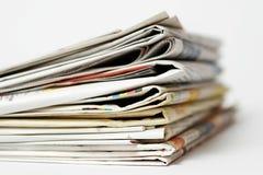 Σωρός των εφημερίδων Στοκ Φωτογραφία