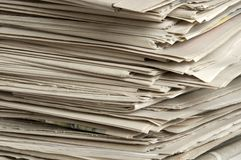 Σωρός των εφημερίδων. Στοκ Εικόνα