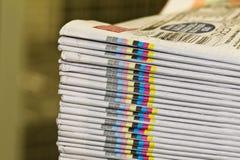 Σωρός των εφημερίδων Στοκ φωτογραφίες με δικαίωμα ελεύθερης χρήσης