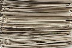 Σωρός των εφημερίδων. Στοκ εικόνες με δικαίωμα ελεύθερης χρήσης
