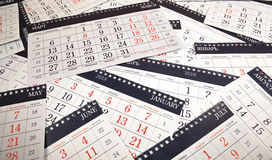 Σωρός των ημερολογιακών φύλλων στον πίνακα Στοκ φωτογραφία με δικαίωμα ελεύθερης χρήσης