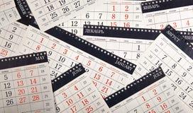 Σωρός των ημερολογιακών φύλλων στον πίνακα Στοκ εικόνες με δικαίωμα ελεύθερης χρήσης