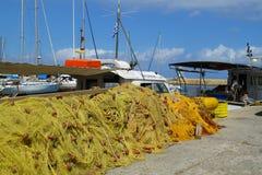 Σωρός των διχτυών του ψαρέματος Στοκ Εικόνα