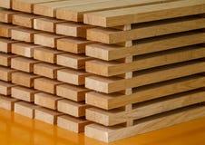Σωρός των λουρίδων του ξύλου Στοκ εικόνες με δικαίωμα ελεύθερης χρήσης