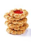 Σωρός των μπισκότων μαρμελάδας Στοκ Εικόνες