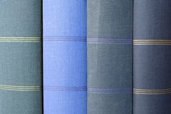 Σωρός των μπλε καλύψεων βιβλίων/των βιβλίων φωτογραφιών Στοκ Φωτογραφία