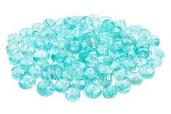 Σωρός των μπλε Apatite χαντρών Στοκ εικόνες με δικαίωμα ελεύθερης χρήσης