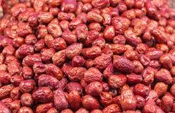 Σωρός των ξηρών κόκκινων ημερομηνιών Στοκ Εικόνα