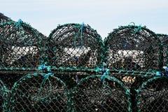 Σωρός των παγίδων αστακών ή των κλουβιών αστακών Στοκ φωτογραφία με δικαίωμα ελεύθερης χρήσης