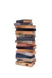 Σωρός των παλαιών βιβλίων που απομονώνονται στο άσπρο υπόβαθρο Στοκ Φωτογραφία