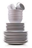 Σωρός των πιάτων Στοκ φωτογραφίες με δικαίωμα ελεύθερης χρήσης