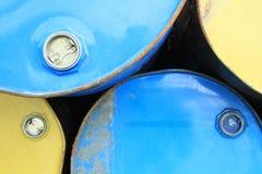 Σωρός των σκουριασμένων χημικών τυμπάνων Στοκ φωτογραφίες με δικαίωμα ελεύθερης χρήσης