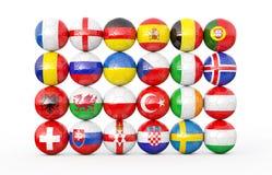 Σωρός των σφαιρών ποδοσφαίρου Στοκ εικόνες με δικαίωμα ελεύθερης χρήσης