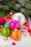 Σωρός των σφαιρών Χριστουγέννων Στοκ εικόνα με δικαίωμα ελεύθερης χρήσης