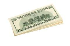 Σωρός των τραπεζογραμματίων αμερικανικών δολαρίων Στοκ Εικόνα