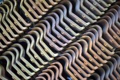 Σωρός των υπαίθριων κεραμιδιών στη γεωμετρική σύνθεση Στοκ φωτογραφίες με δικαίωμα ελεύθερης χρήσης