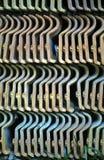 Σωρός των υπαίθριων κεραμιδιών στη γεωμετρική σύνθεση Στοκ Φωτογραφία
