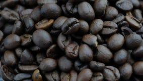Σωρός των φασολιών καφέ ψητού κλείστε επάνω απόθεμα βίντεο