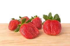 Ώριμες φράουλες Στοκ Εικόνες