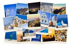 Σωρός των φωτογραφιών Santorini Στοκ Εικόνες