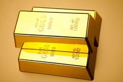 Σωρός των χρυσών φραγμών, περιβαλλοντική οικονομική έννοια Στοκ φωτογραφίες με δικαίωμα ελεύθερης χρήσης