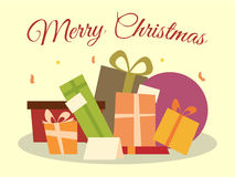 Σωρός των δώρων Χριστουγέννων Στοκ εικόνες με δικαίωμα ελεύθερης χρήσης