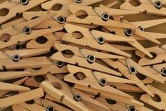 Σωρός των clothespins Στοκ Φωτογραφίες