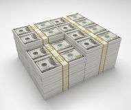 Σωρός χρημάτων του τραπεζογραμματίου 100 δολαρίων Στοκ εικόνες με δικαίωμα ελεύθερης χρήσης