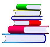 σωρός χρώματος βιβλίων Στοκ Εικόνες