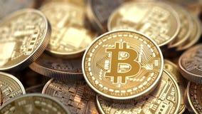 Σωρός Bitcoins, όμορφη τρισδιάστατη ζωτικότητα ελεύθερη απεικόνιση δικαιώματος
