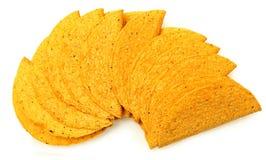 Σωρός Cornmeal Cruncy των κοχυλιών Taco Στοκ Εικόνες