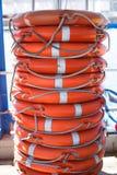 Σωρός lifebuoy Στοκ Εικόνα