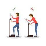 Σωστές ή ανακριβείς θέσεις για την εργασία ζωγράφων καλλιτεχνών διάνυσμα Στοκ φωτογραφία με δικαίωμα ελεύθερης χρήσης