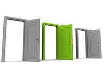 Σωστή πόρτα ελεύθερη απεικόνιση δικαιώματος
