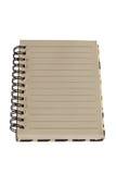 Σωστή σελίδα σημειωματάριων εγγράφου Στοκ φωτογραφία με δικαίωμα ελεύθερης χρήσης