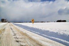 Σωστή στροφή - δυτικός χειμώνας της Νέας Υόρκης Στοκ εικόνα με δικαίωμα ελεύθερης χρήσης