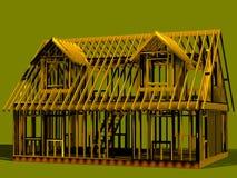 σωστή όψη σπιτιών πλαισίων μπ&rh απεικόνιση αποθεμάτων