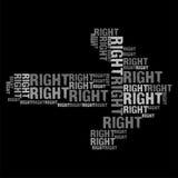 Σωστός γκρίζος Στοκ εικόνα με δικαίωμα ελεύθερης χρήσης