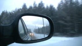 Σωστός καθρέφτης του αυτοκινήτου απόθεμα βίντεο