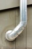 Σωλήνας μεταβάσεων αέρα στην οικοδόμηση του τοίχου Στοκ Φωτογραφία