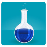 Σωλήνας δοκιμής με το μπλε υγρό Στοκ Εικόνες