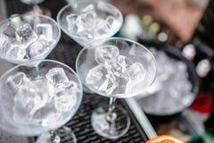 Σωλήνας πάγου στον κάδο Κόμμα Coctail Στοκ εικόνες με δικαίωμα ελεύθερης χρήσης