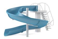 Σωλήνας φωτογραφικών διαφανειών Aquapark που απομονώνεται απεικόνιση αποθεμάτων