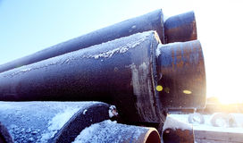 Σωλήνες αερίου βιομηχανίας σωλήνων υπονόμων Στοκ εικόνες με δικαίωμα ελεύθερης χρήσης