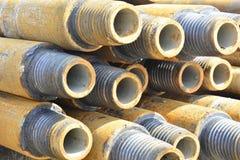 Σωλήνες για τη διάτρυση των φρεατίων πετρελαίου και φυσικού αερίου Στοκ Εικόνα