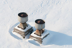 Σωλήνες διεξόδων στη στέγη Στοκ φωτογραφία με δικαίωμα ελεύθερης χρήσης