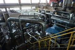 Σωλήνες στις εγκαταστάσεις παραγωγής ενέργειας Στοκ Εικόνες